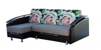 """Угловой диван """"Ассамблея Z-8"""" с длинным подлокотником"""